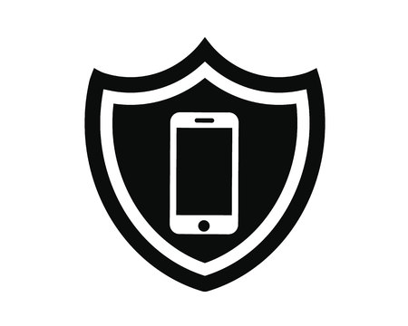shield mobile protection Vector illustration. Illusztráció