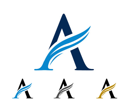 letter swoosh logo Vector illustration. Illusztráció