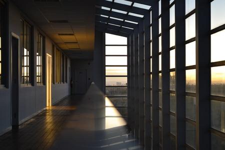 picture window: Corridor Lights Editorial