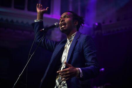 Jeangu Macrooy performing at Paradiso, Amsterdam