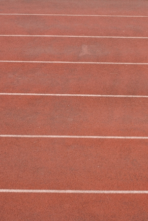 Orange way running track  pattern with six lines photo