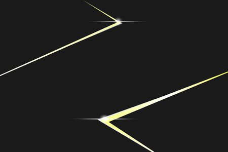 Black background with gold line shape