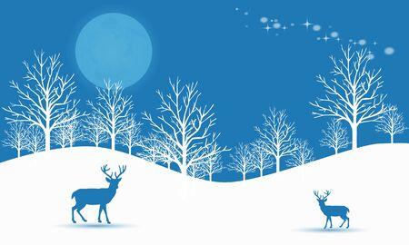 Celebration winter season in the night Ilustracja