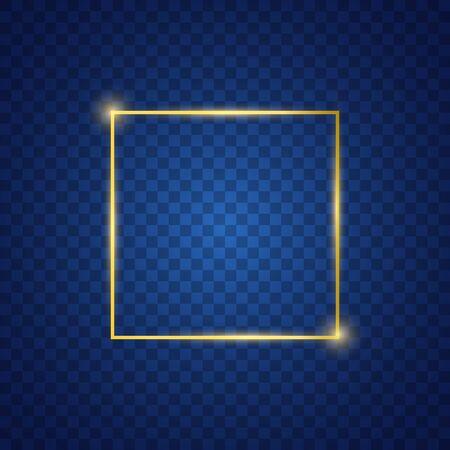 Square lighting effect with blue background Ilustração