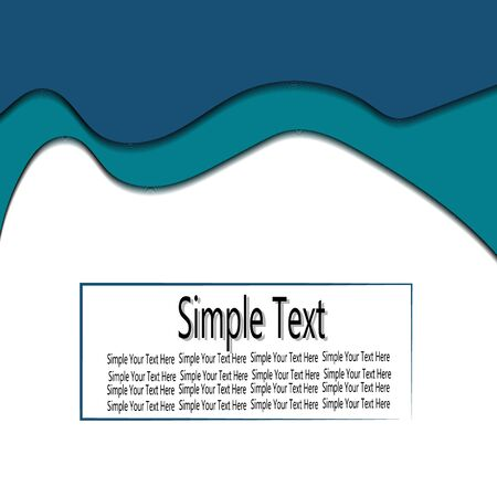wave paper cut with simple text