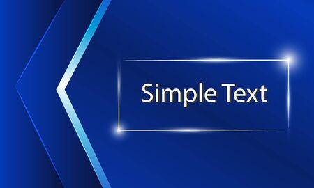 Blue card with simple text Ilustração