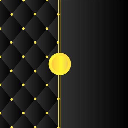 black square shape pattern and gold pin cover Ilustração