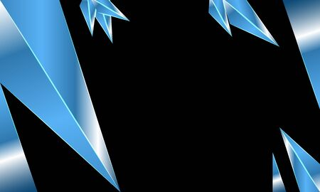 Blue crystal with black background Imagens - 134430754