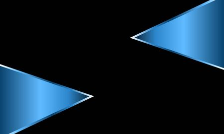 Blue metallic triangle shape background