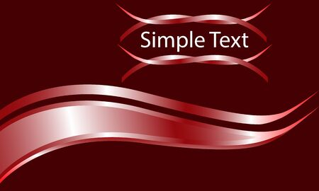 Red metallic curve and simple text logo