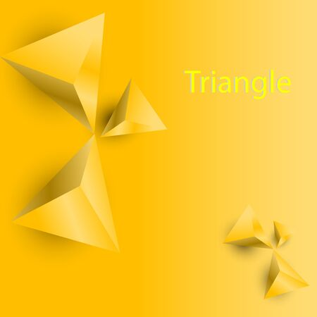 yellow triangle object and yellow background