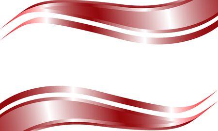Double red metallic curve shape Ilustração