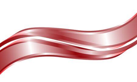 Double red metallic curve shape  overlap