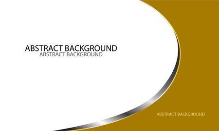 white business card cover by gold shape