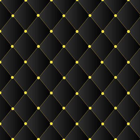 black square pattern with gold pin template Ilustração