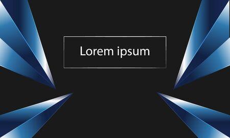 Blue crystal frame with black background