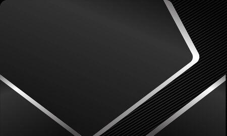 Black background cross by gray metallic effect design Ilustração