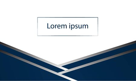 Abstract dark blue cover with gray background with text