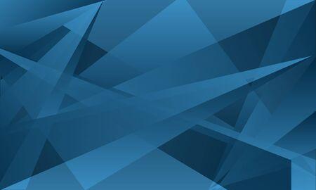 blue  triangle overlap abstract background Ilustração