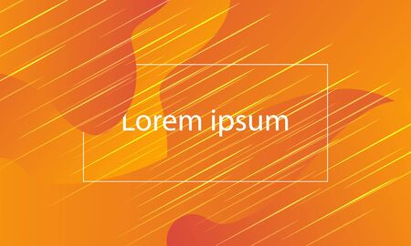 abstract orange flyer dynamic shape design
