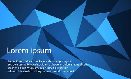abstract blue polygon background with text