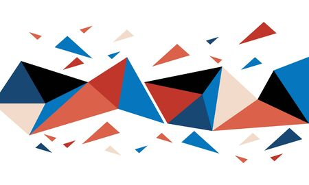 abstract colorful splash triangle background
