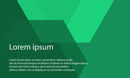 abstract green polygon overlap pattern