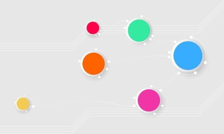 Circle info graphics template creative