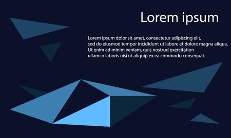 blue shade color triangle abstract background Ilustração
