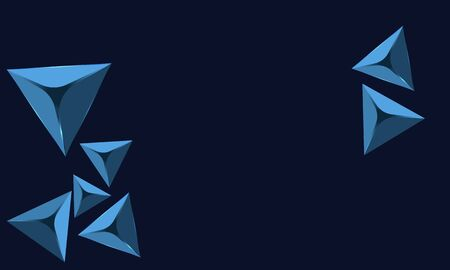 blue abstract diamond with blue background Ilustrace