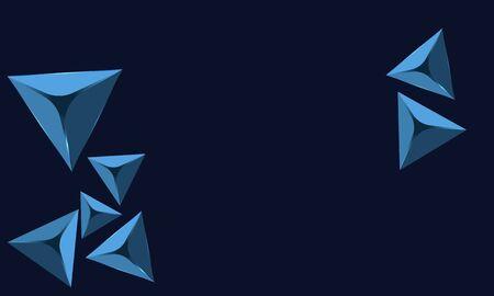 blue abstract diamond with blue background Ilustração