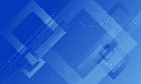 Blue square gradient overlap background