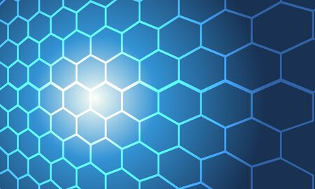 blue cell polygon abstract background