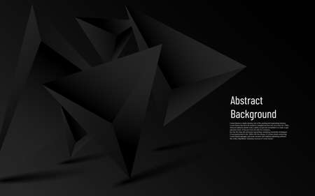 abstract luxury more dark triangle with black background
