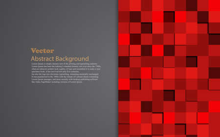 abstract red 3d multiple mosaic and gray text space create Ilustração Vetorial