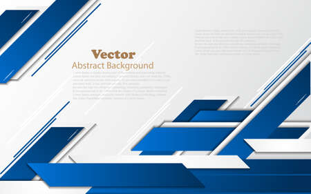 abstract modern blue geometry element with white background and text