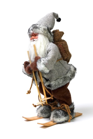 Santa Claus skiing photo