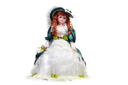 Redhead doll  in medieval dress and hat Stock Photo - 17955475