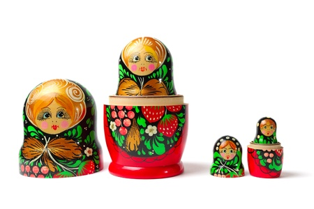 babushka: Russian toys  Nesting Dolls also known as Babushka or Matreshka