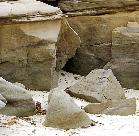Interesting rock formations at the beach
