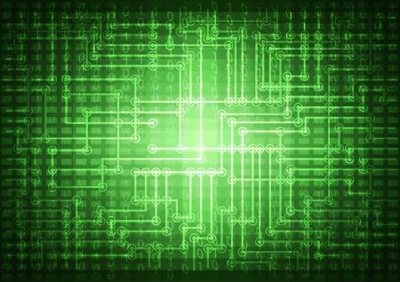 Resumen de tecnolog�a verde ilustraci�n de fondo con c�digo binario.