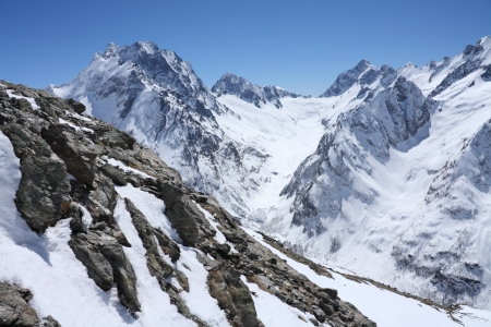 Mountains - Dombay, Main Caucasian ridge, abt. 4000m. photo