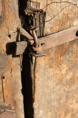 doorlock: Antique door-lock. Stock Photo