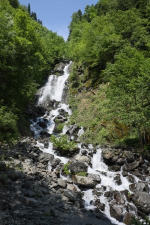 Mountain waterfall  Abkhazia  photo