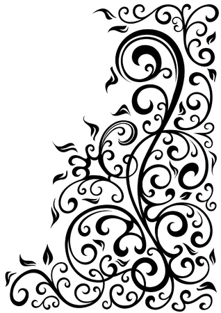 floral scroll: Floral background