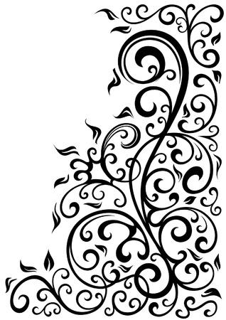 floral swirls: Floral background