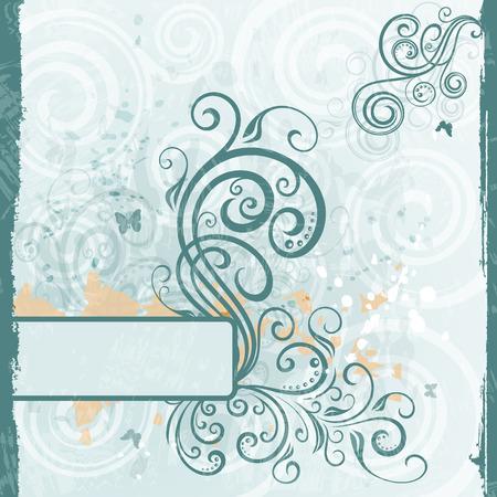floral grunge: Abstract floral grunge illustration.