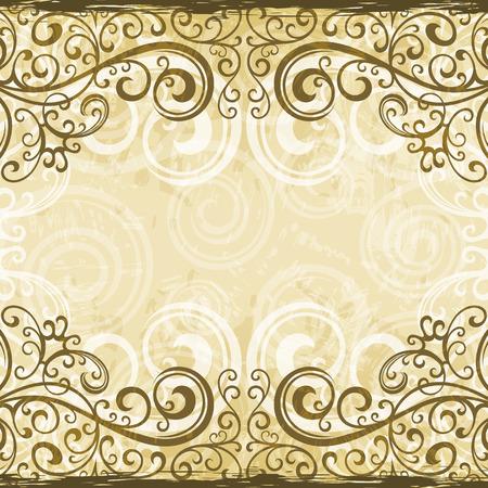 floral grunge: Floral grunge background illustration.