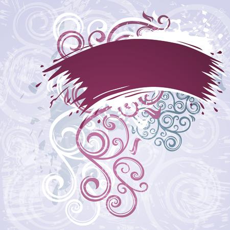 floral grunge: Floral grunge illustration