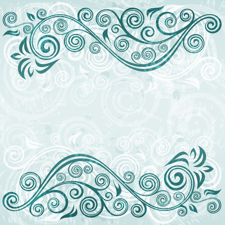 curled up: Abstract floral grunge background illustration